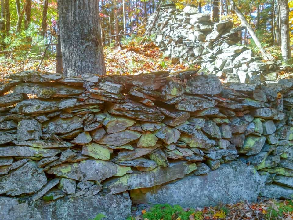 Stone wall off the trail at Adirondack ATV Tours