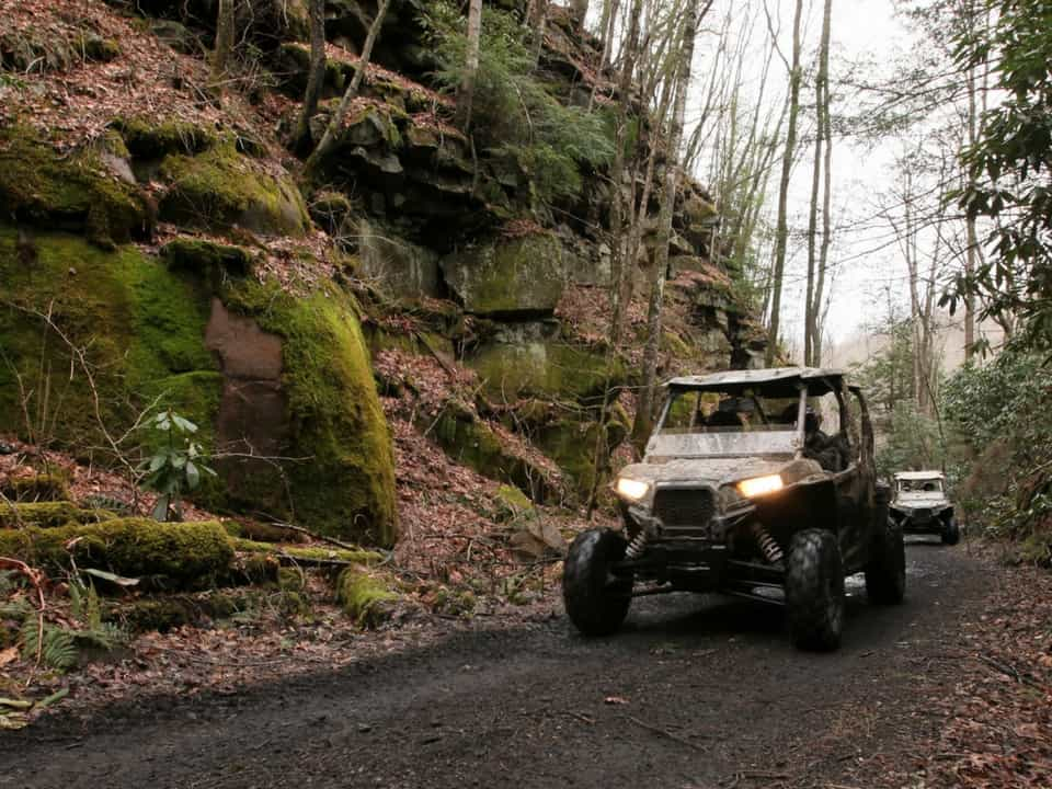 Two RZR's on the Hatfield-McCoy Pocahontas Trail