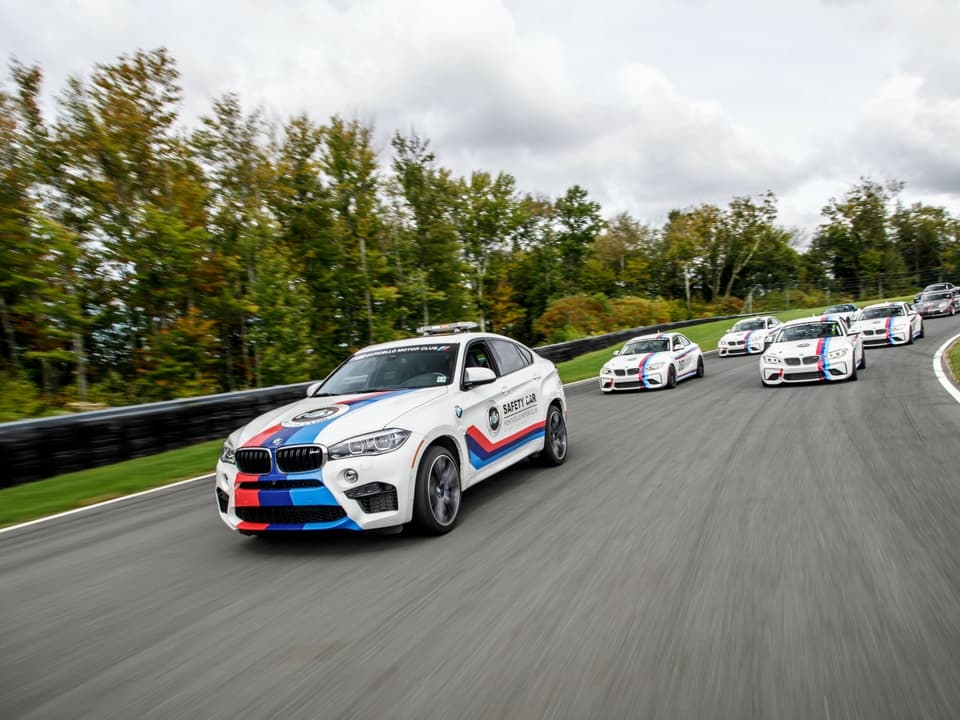 BMW's on the track at Monticello Motor Club