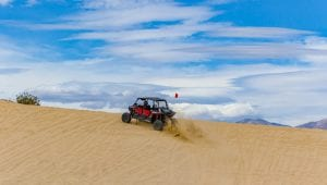 RZR on Devil's Slide at Ocotillo Wells