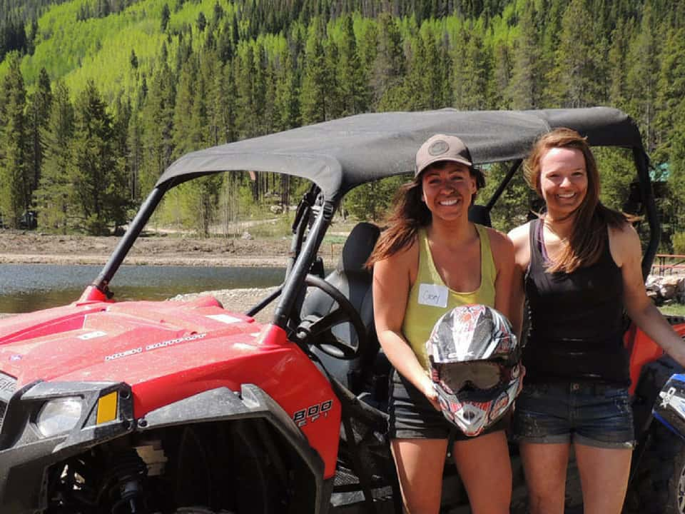 Girls in front of a RZR at Nova Gudies
