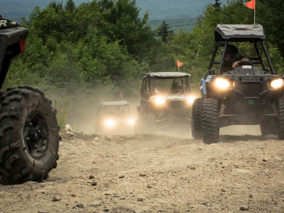 RZR's in a line at Northeast