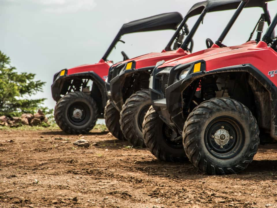 Front of RZR 800s at Nova Guides