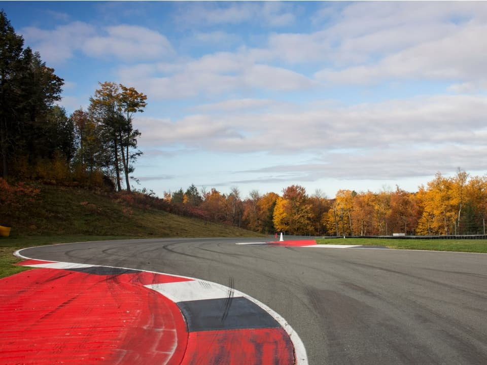View of the track at Monticello Motor Club