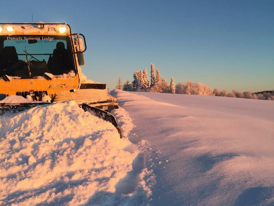 The groomer on the Daniels Summit trails