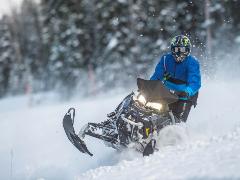 Polaris sled at Daniels Summit