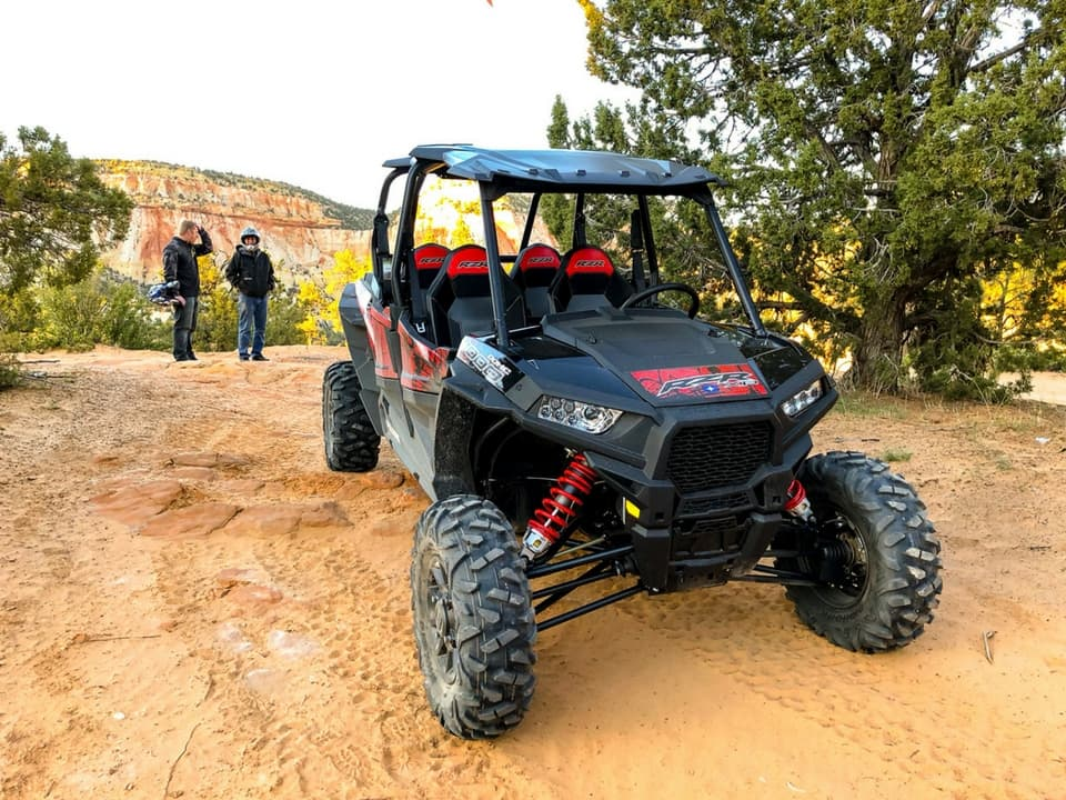 RZR parked while riders take a break