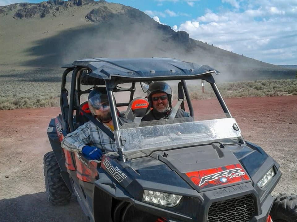 RZR in the high desert at Outriders
