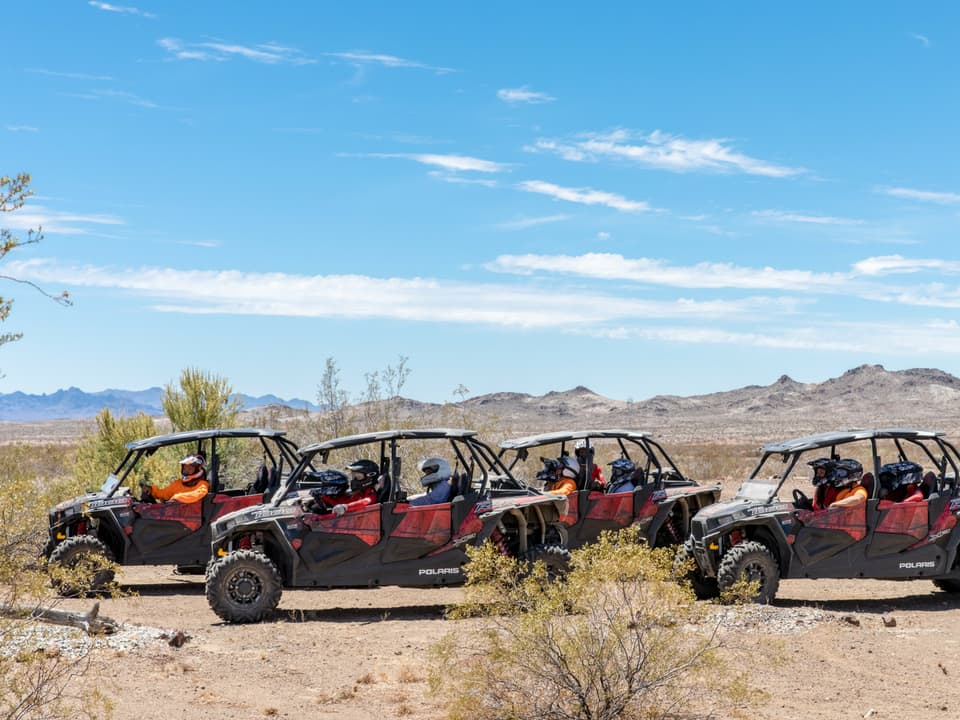 RZR's on the trail at Pirate Cove