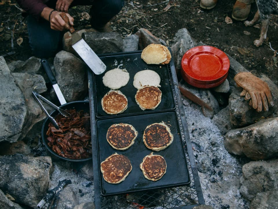 Prepping food on a Wilderness Collective trip