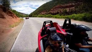 The Polaris Slingshot on Colorado's Million Dollar Highway