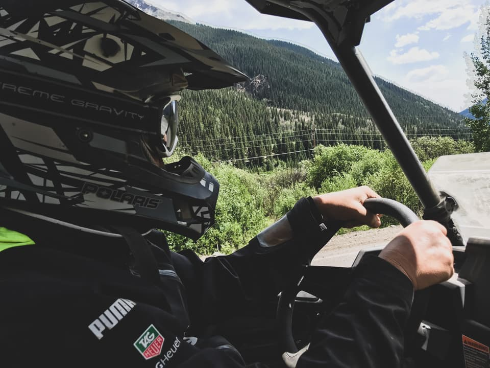 View inside a RZR at Rock Pirates