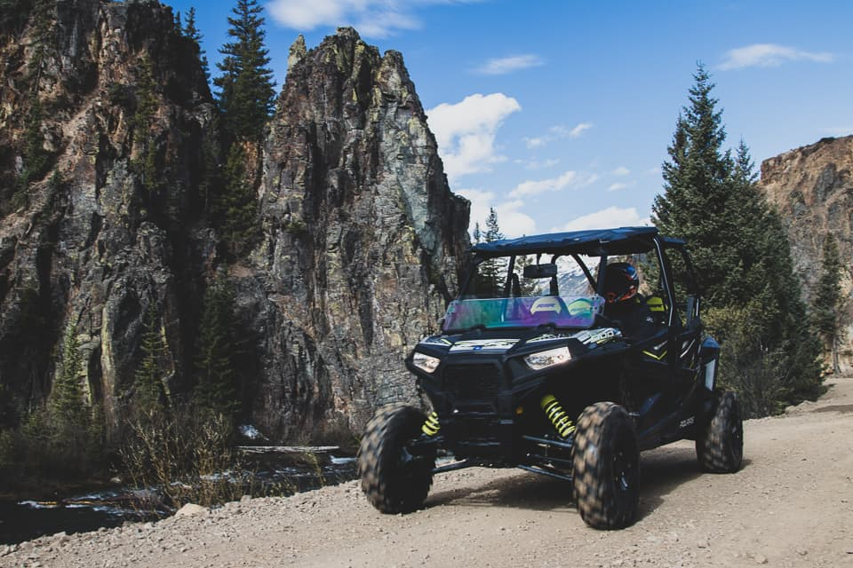 RZR on the trails