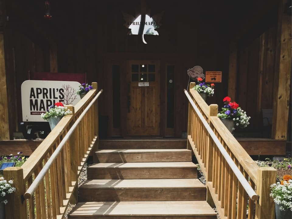 Entryway to April's Maple
