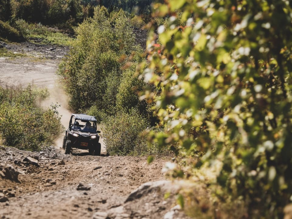 RZR on the trail at Bear Rock Adventures