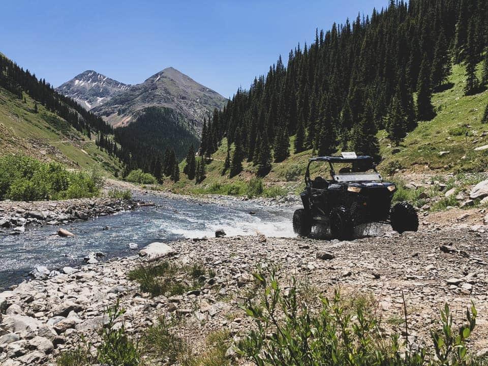 Driving through a stream crossing at Rock Pirates