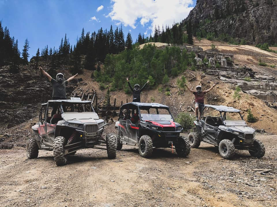 Rock Pirates guests on Polaris vehicles