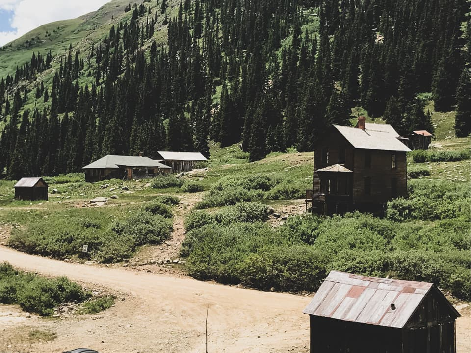 Ghost town in Animas Forks