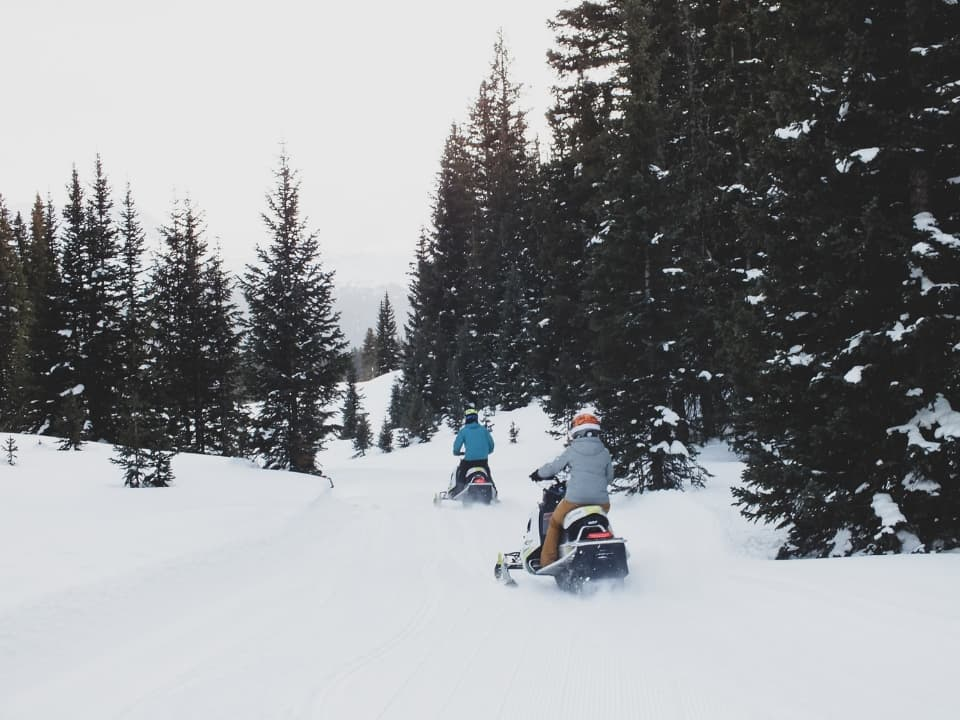 Guests on a sleds at Silverton, CO