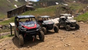Polaris RZRs and GENERAL at Silverton Rock Pirates