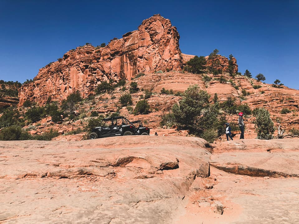 Guests and a RZR in Sedona