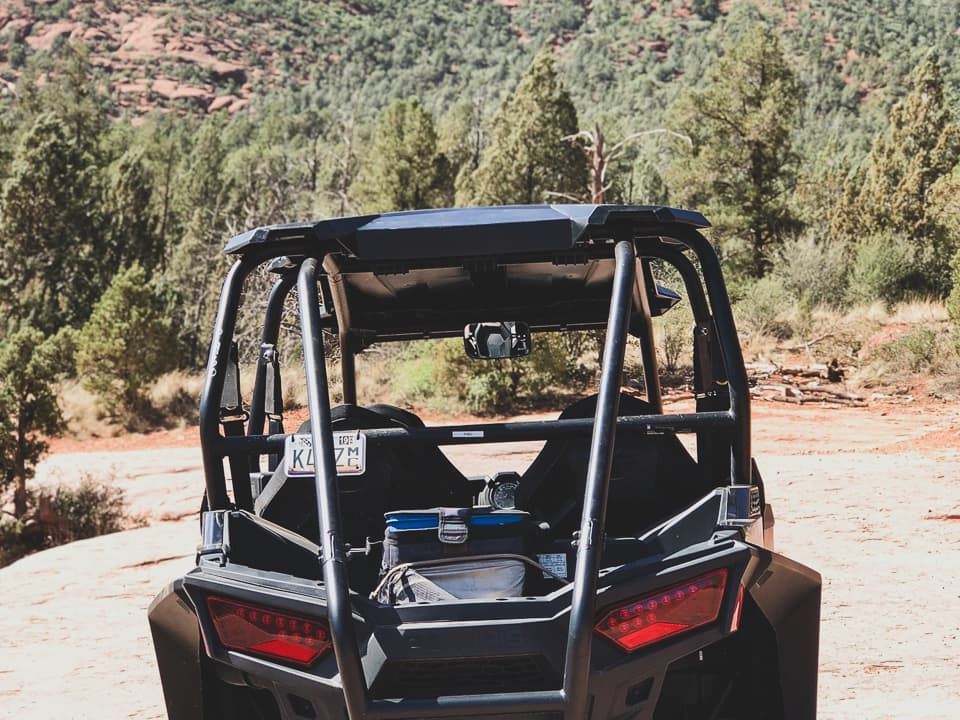 The back of a RZR at Sedona