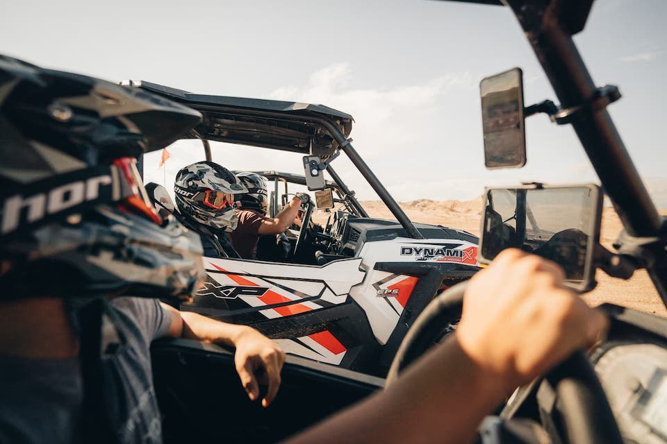 Pulling up to friends at Ocotillo Wells SVRA