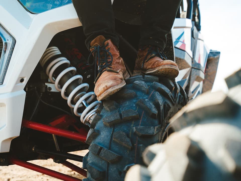 Boots on a RZR tire