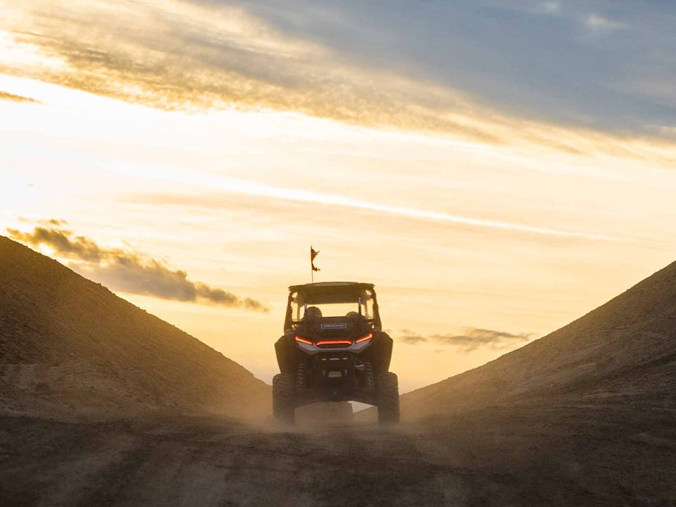 Sunset drive at Ironwoods Off-Road Rental