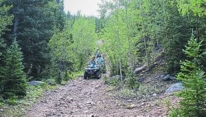 Off-roading on an ATV is one of the adventures possible in the Georgetown area.