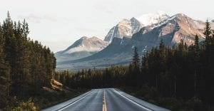 scenic mountain view highway