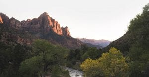 scenic view of Zion National Park